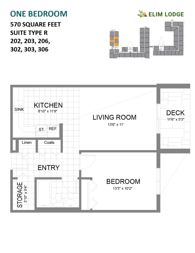 Elim Lodge Rooms 202-203-206-302-303-306