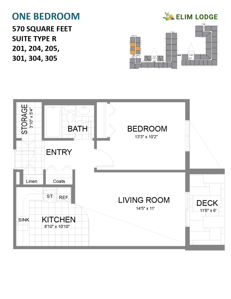 Elim Lodge Rooms 201-204-205-301-304-305