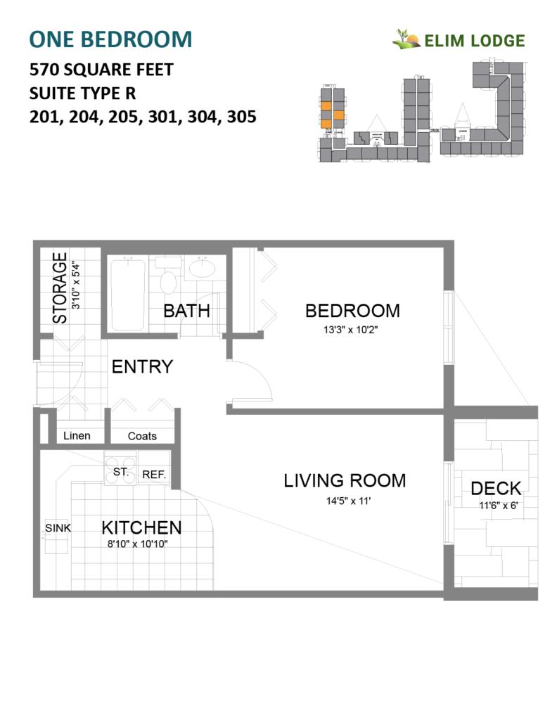 Elim Lodge Rooms 201, 204, 205, 301, 304, 305