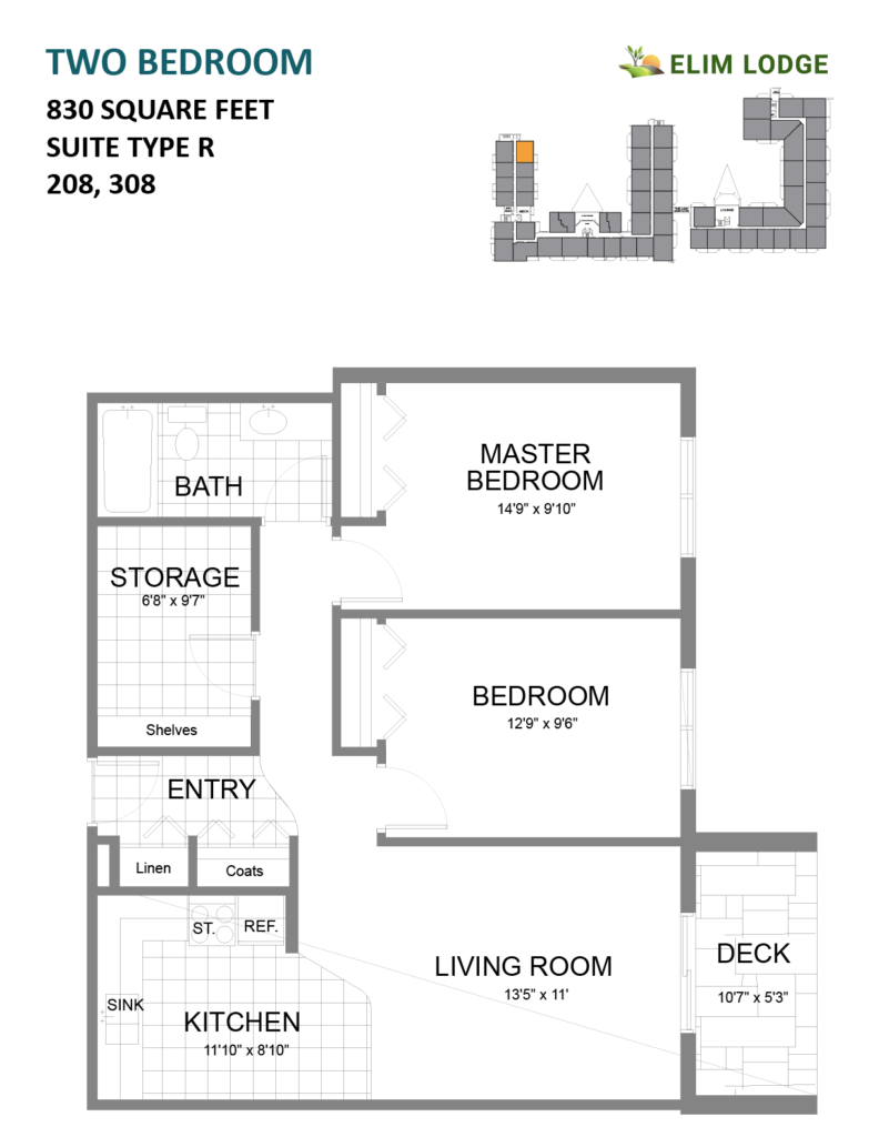 Elim Lodge Rooms 208-308