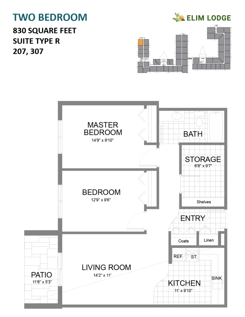 Elim Lodge Rooms 207-307