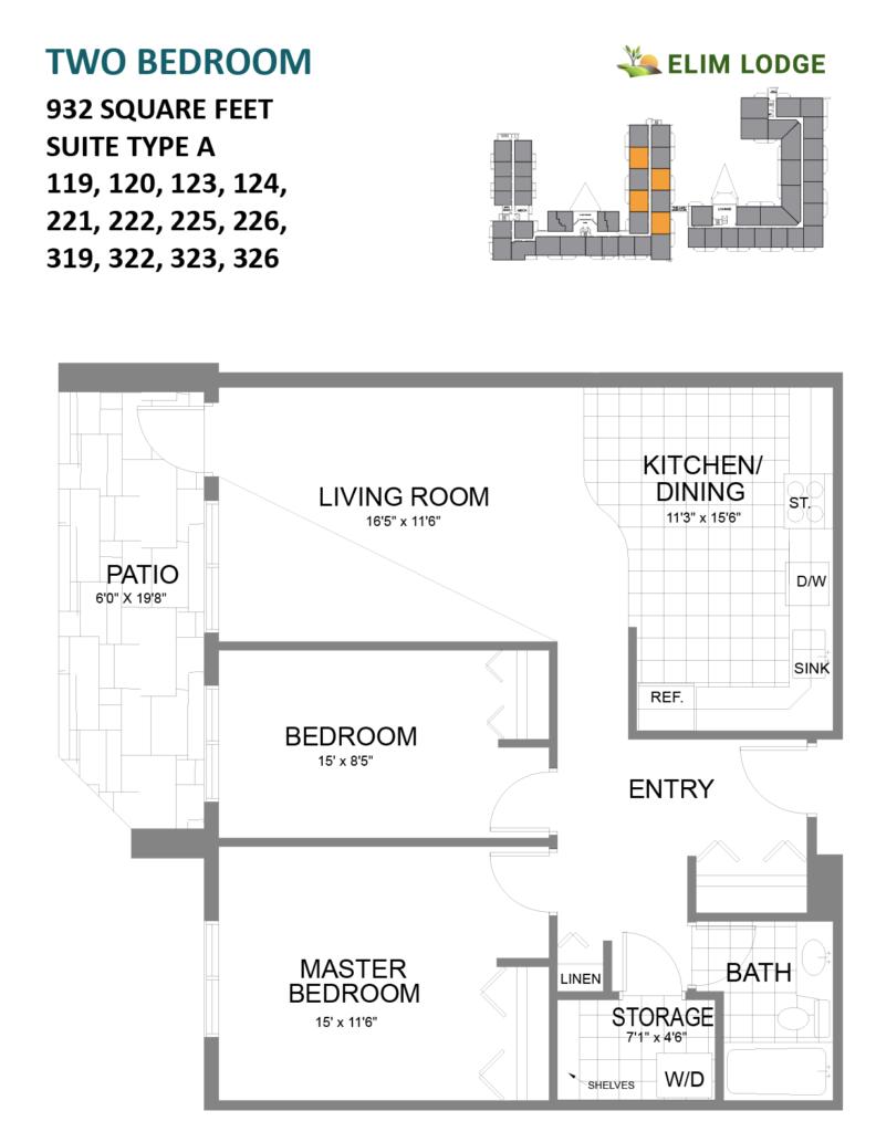 Elim Lodge Rooms 119-120-123-124-221-222-225-226-319-322-323-326