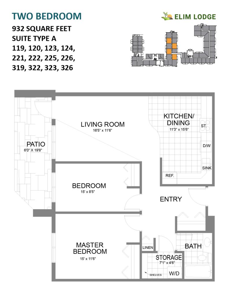 Room 124 at Elim Lodge