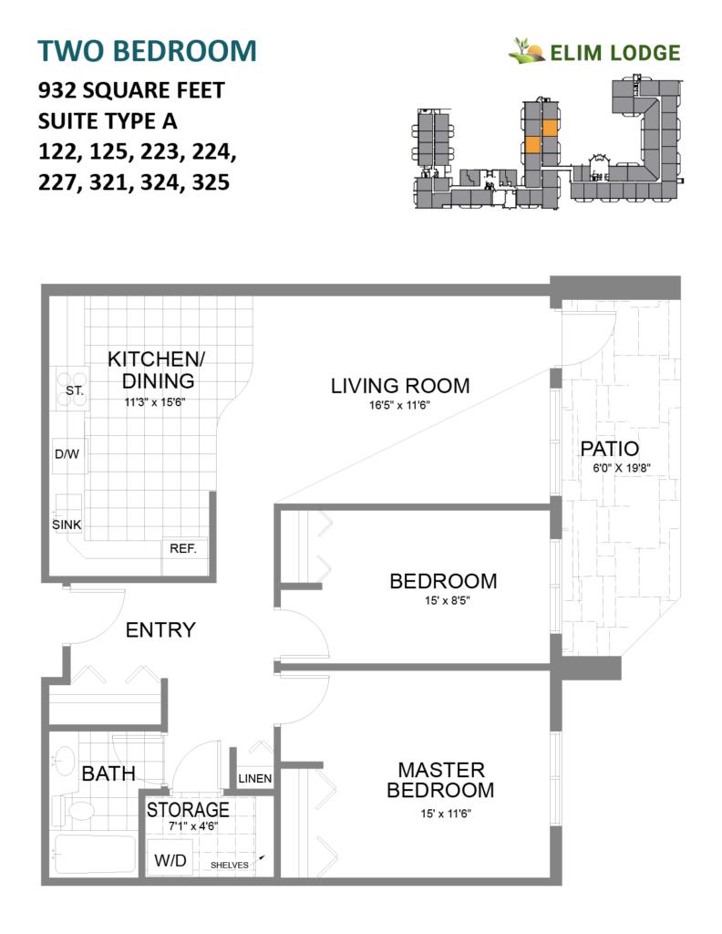 Elim Lodge Room 125