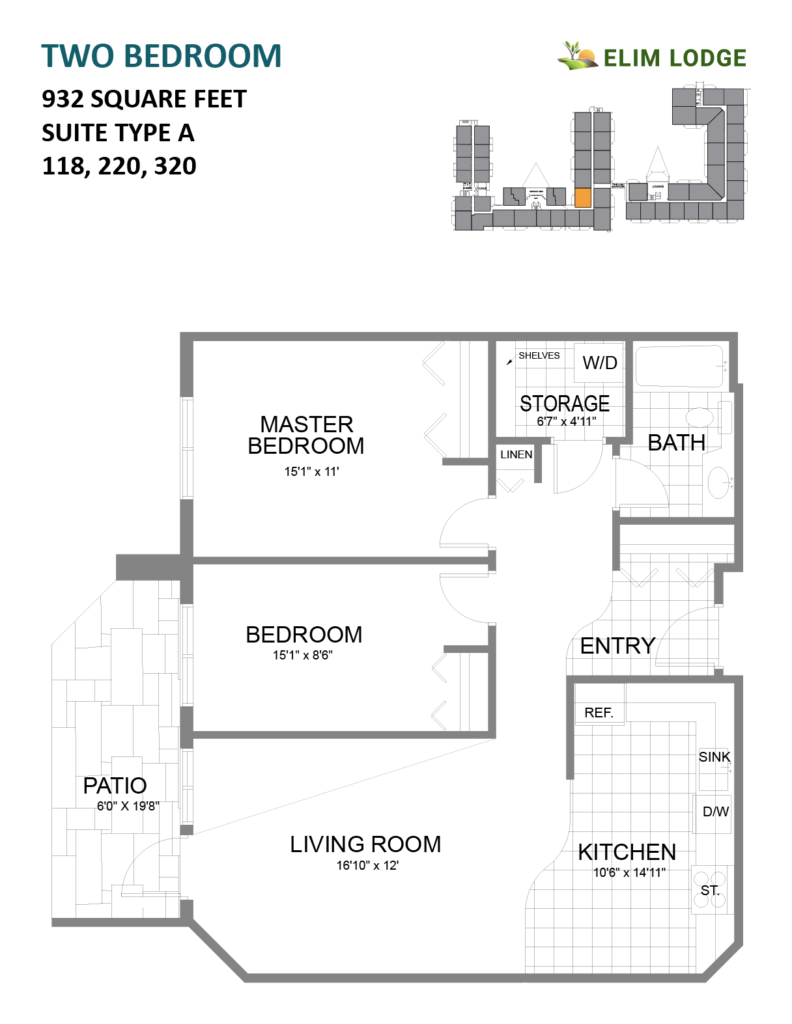 Elim Lodge Rooms 118, 220, 320