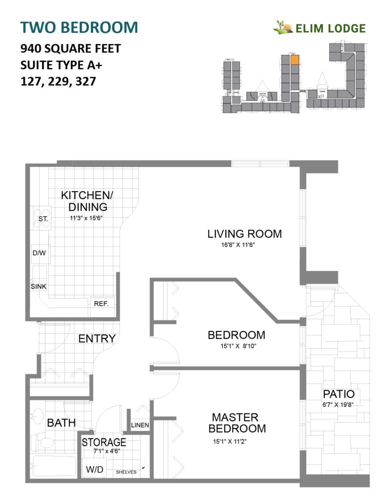 Elim Lodge Rooms 127, 229, 327