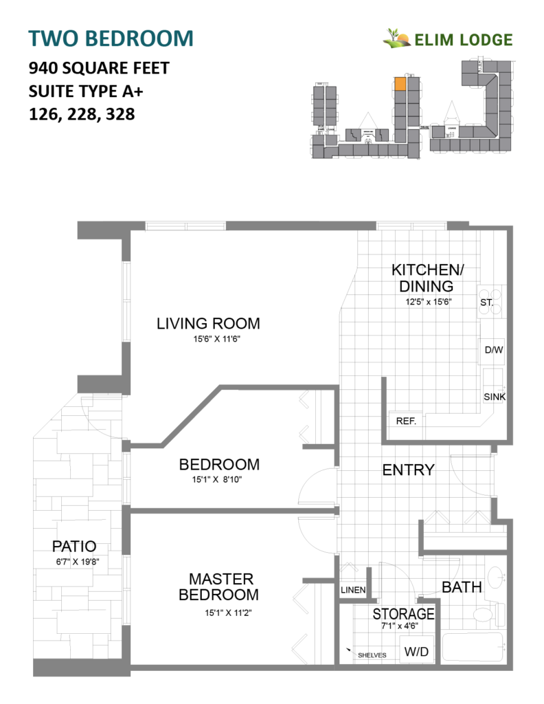 Elim Lodge Rooms 126, 228, 328