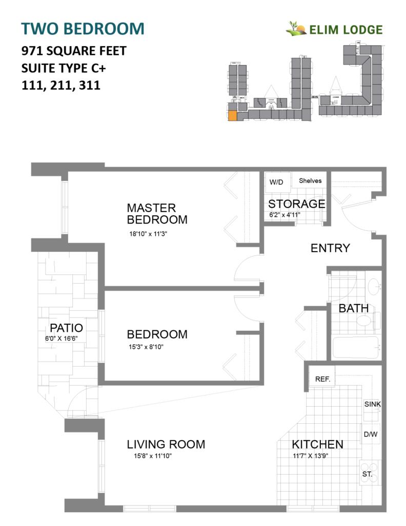 Elim Lodge Rooms 111-211-311