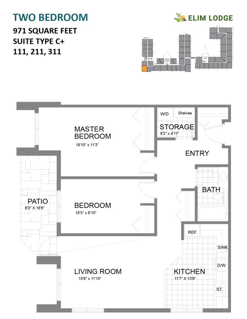 Elim Lodge Rooms 111, 211, 311