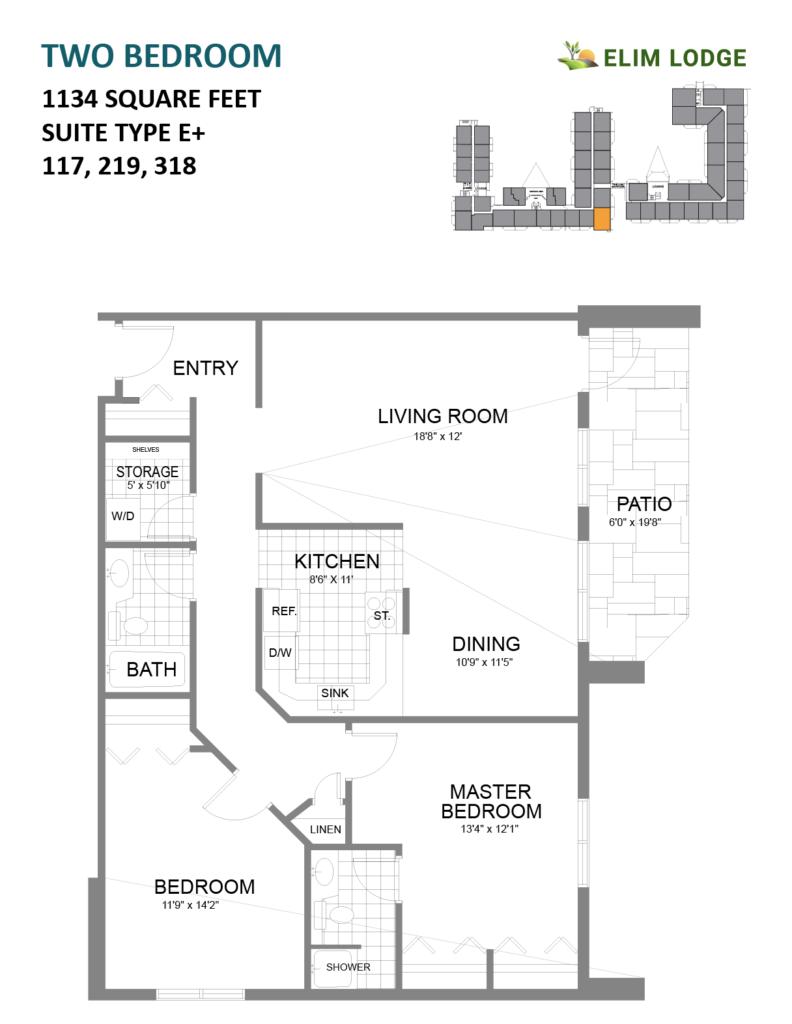 Elim Lodge Rooms 117, 219, 318