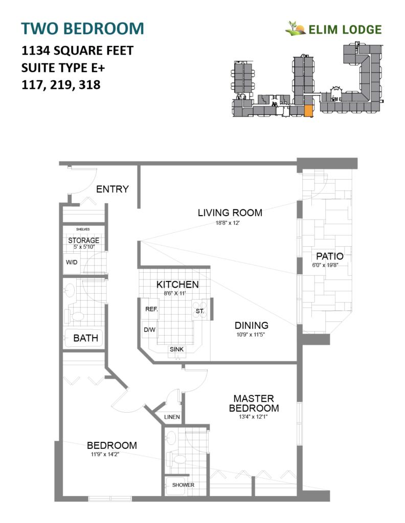 Room 117 at Elim Lodge