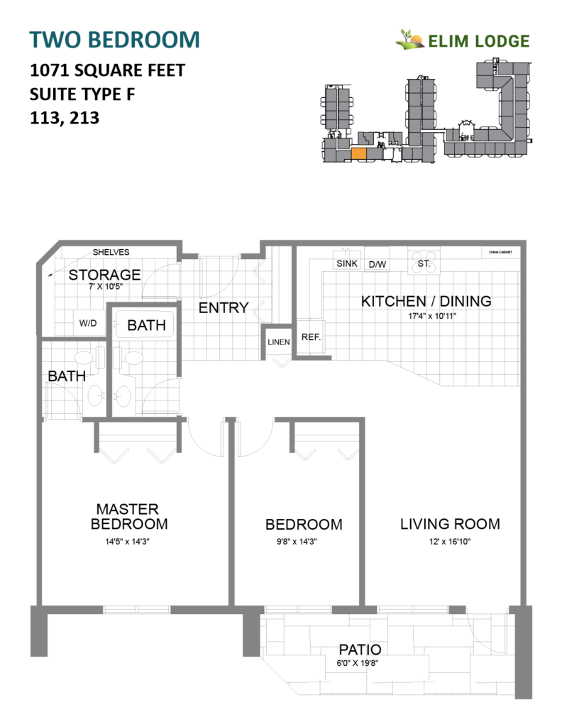 Elim Lodge Rooms 113, 213