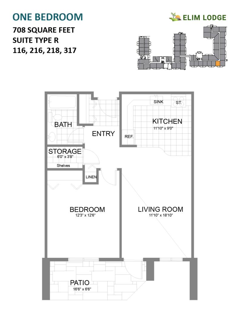Room 116 at Elim Lodge