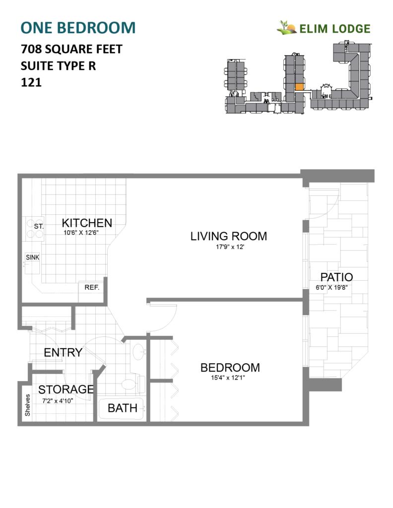Elim Lodge Senior Suite 121