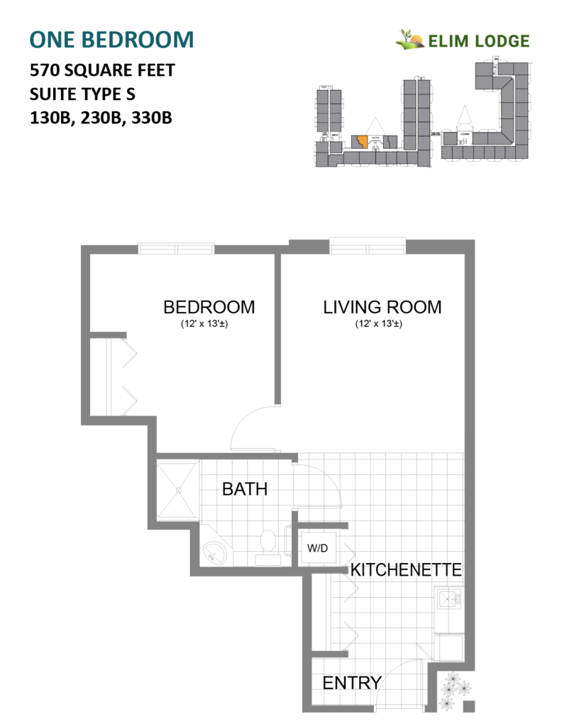 Elim Lode Rooms 130B, 230B, 330B