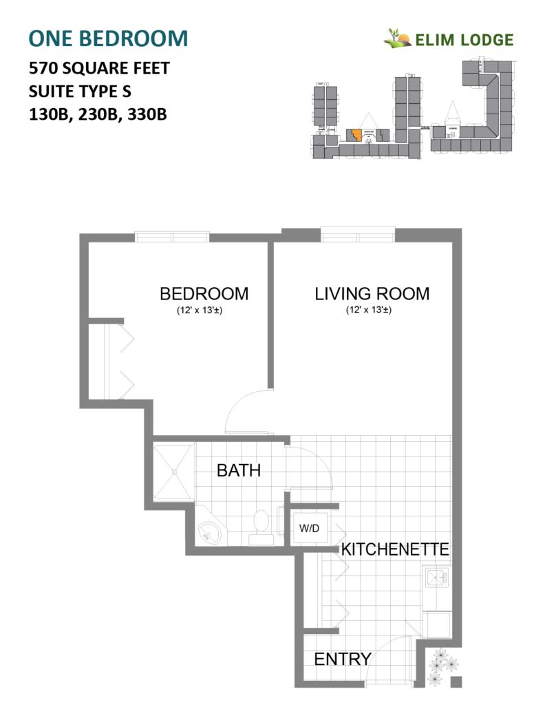 Elim Lodge Rooms 130B, 230B, 330B