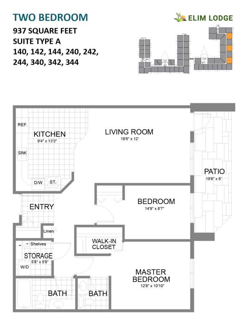Elim Lodge Senior Suites 140-142-144-240-242-244-340-342-344