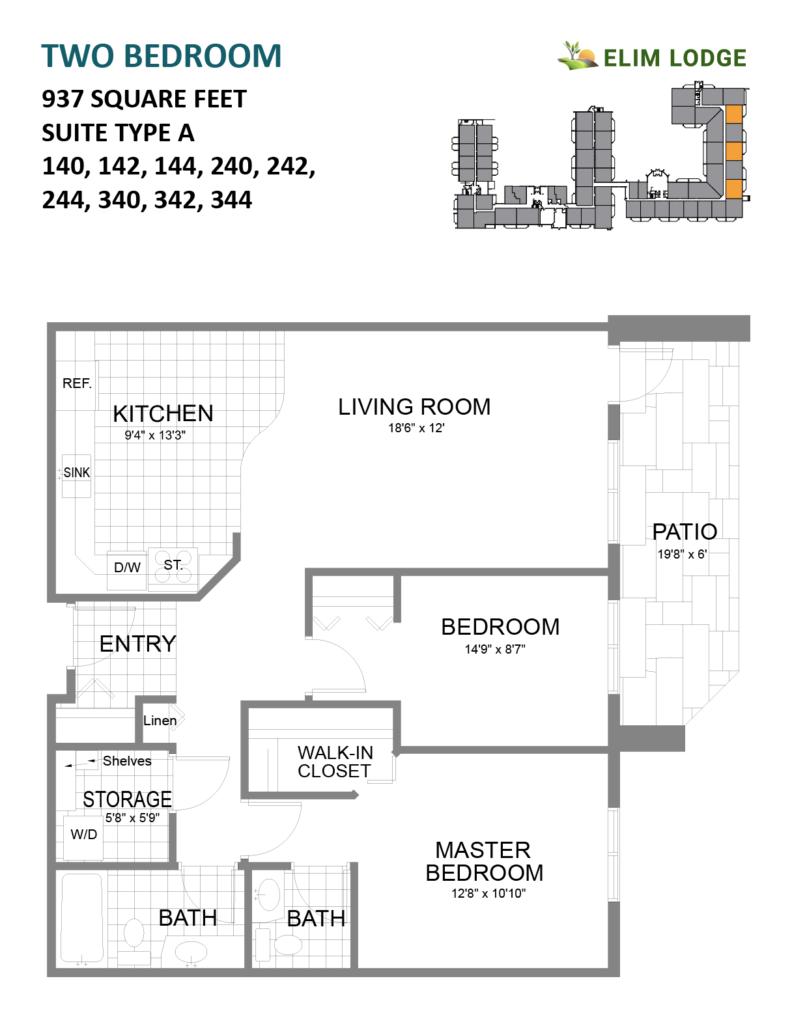 Elim Lodge Room 140 142