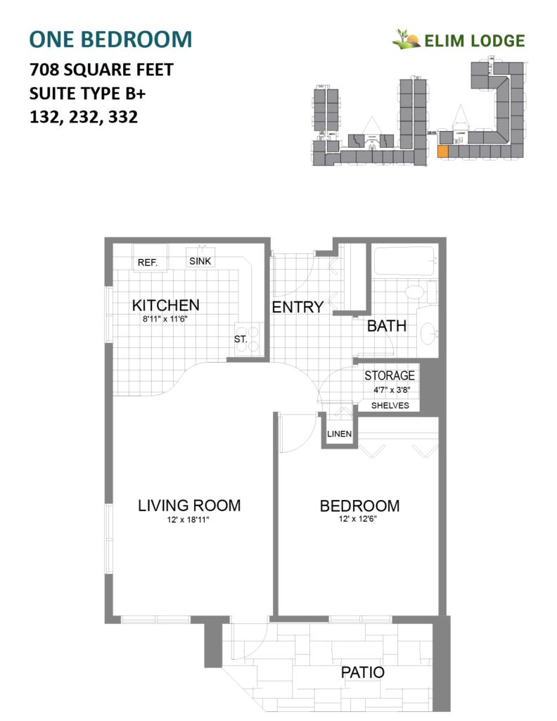 Elim Lodge Rooms 132, 232, 332