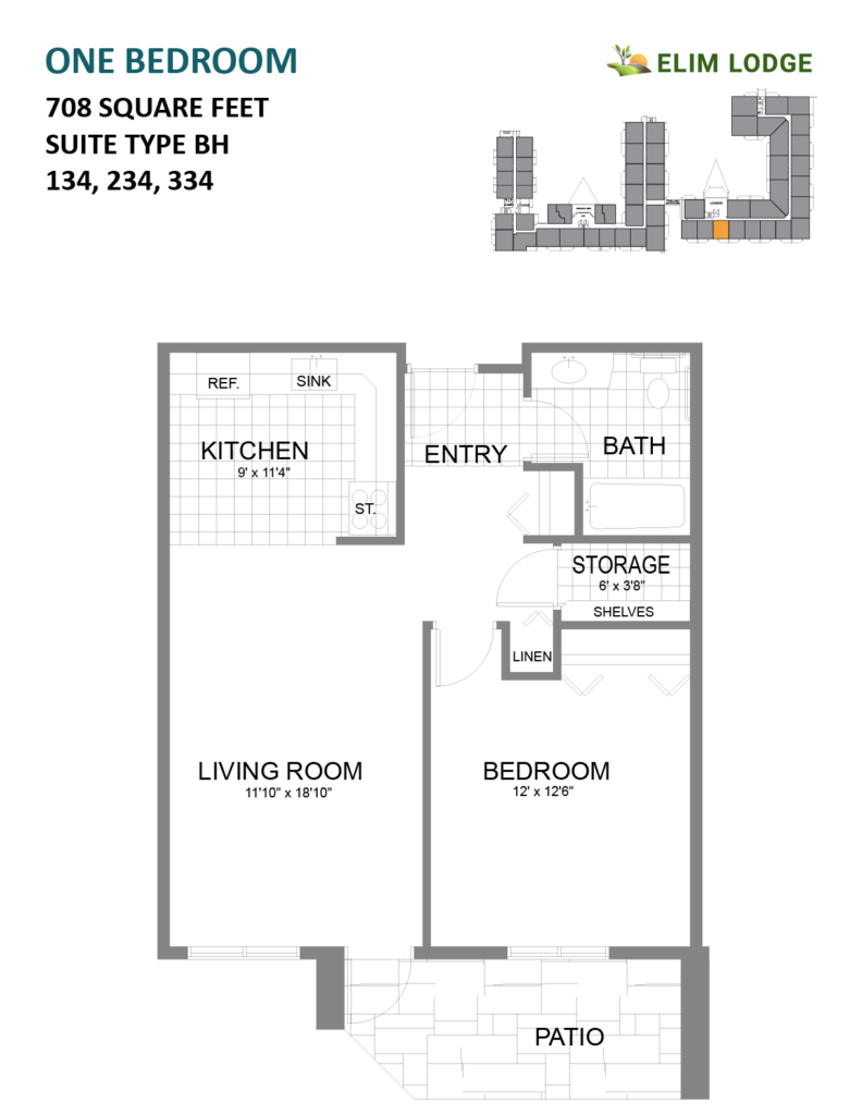 Elim Lodge Rooms 134, 234, 334