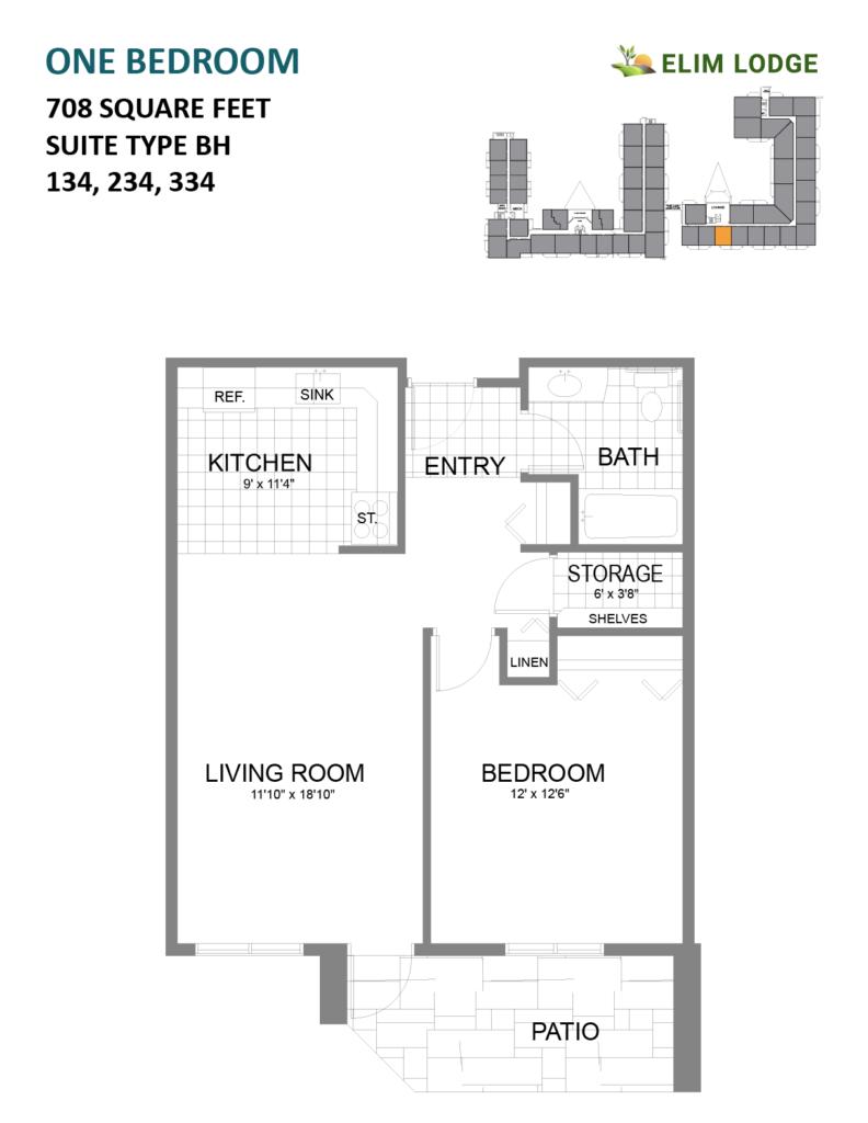 Elim Lodge Suites 134, 234, 334