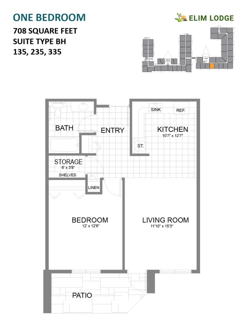 Elim Lodge Rooms 135, 235, 335