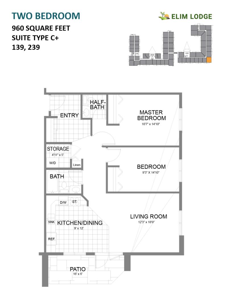 Elim Lodge Rooms 139, 239