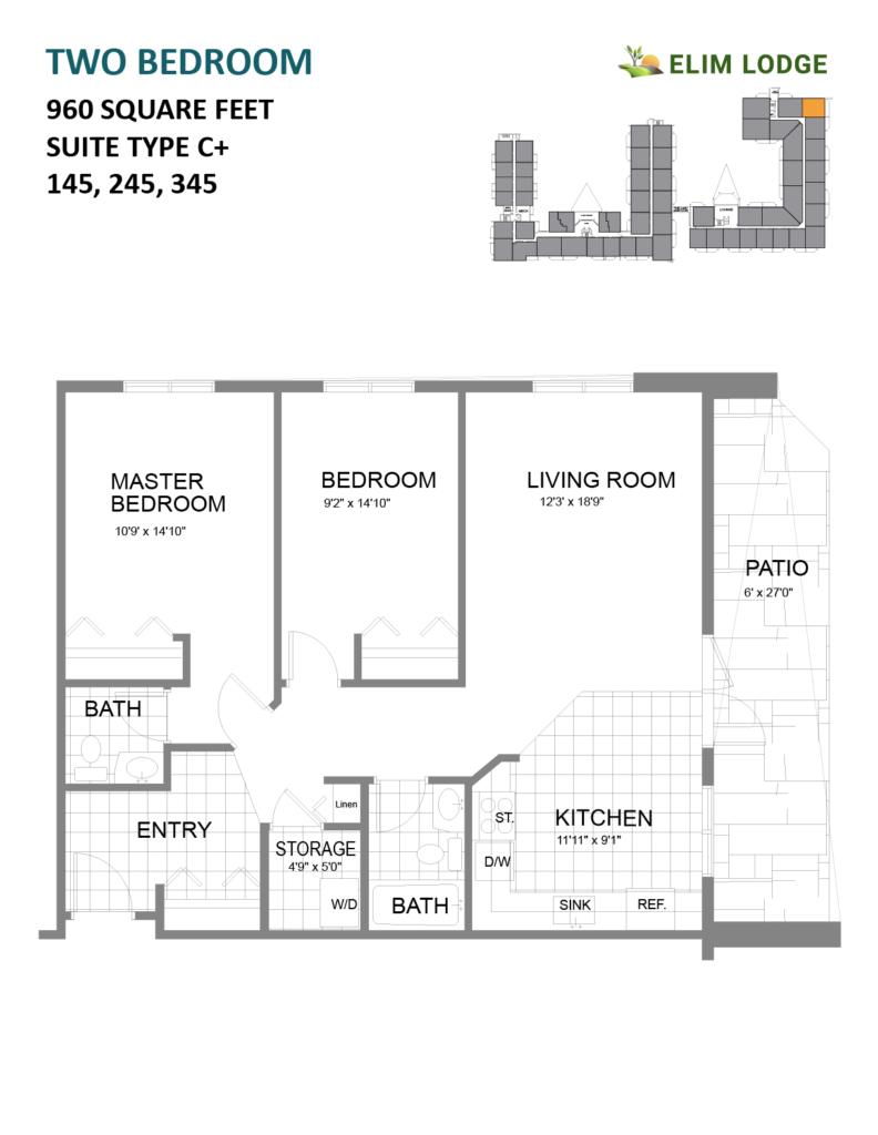 Elim Lodge Senior Suites 145-245-345