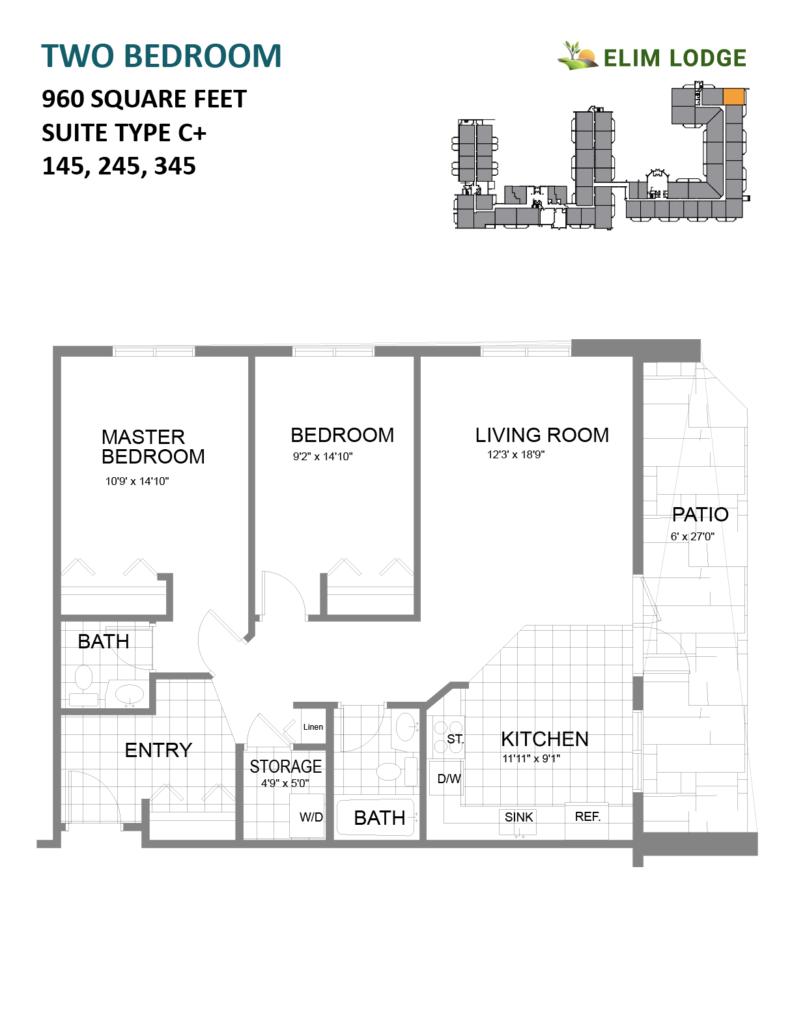 Elim Lodge Rooms 145, 245, 345