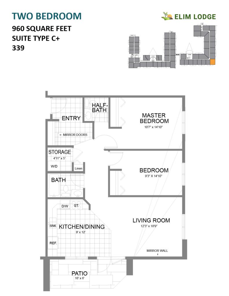Elim Lodge Senior Suite 339