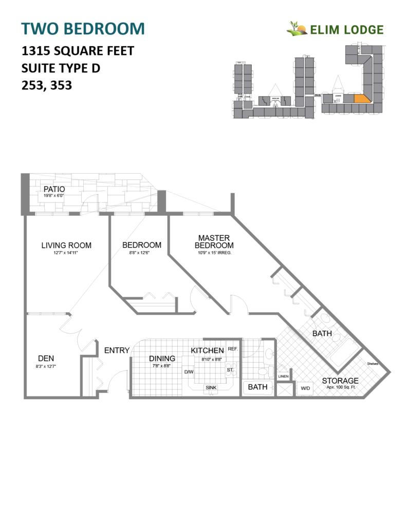 Elim Lodge Rooms 253, 353