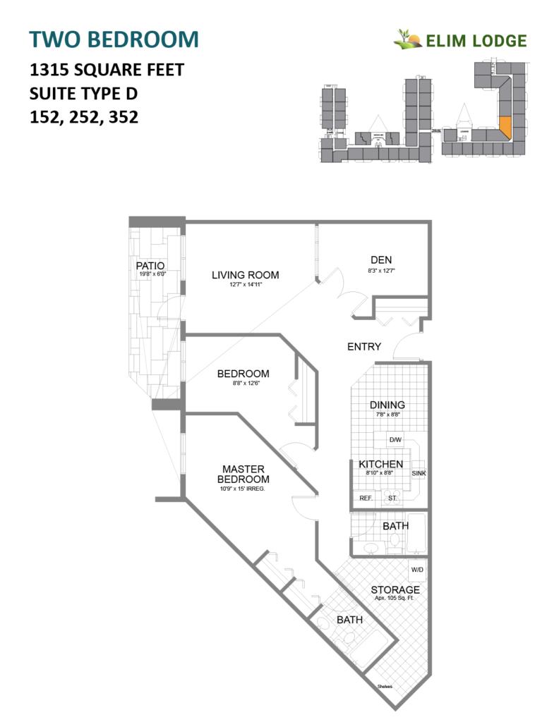 Elim Lodge Rooms 152, 252, 352