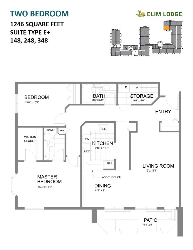 Elim Lodge Rooms 148, 248, 348
