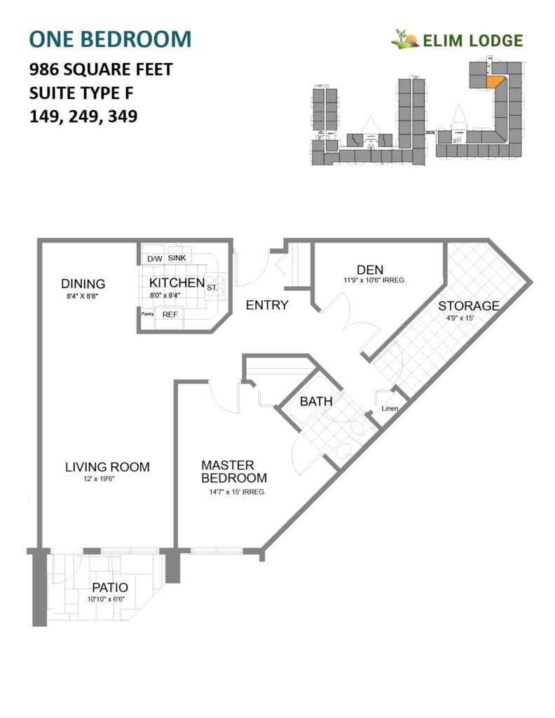 Elim Lodge Senior Suites 149-249-349