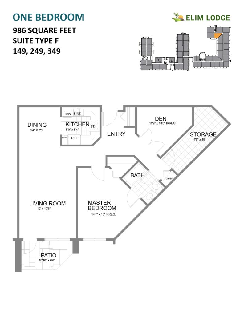 Elim Lodge Rooms 149, 249, 349