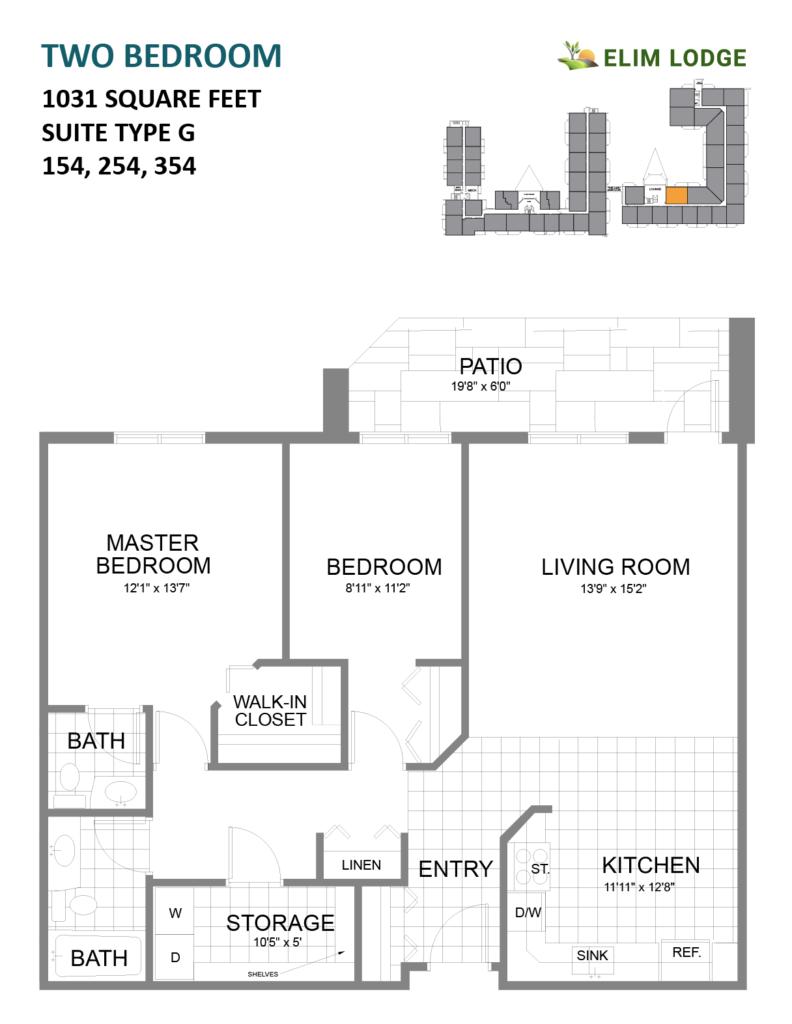 Elim Lodge Senior Suites 154-254-354