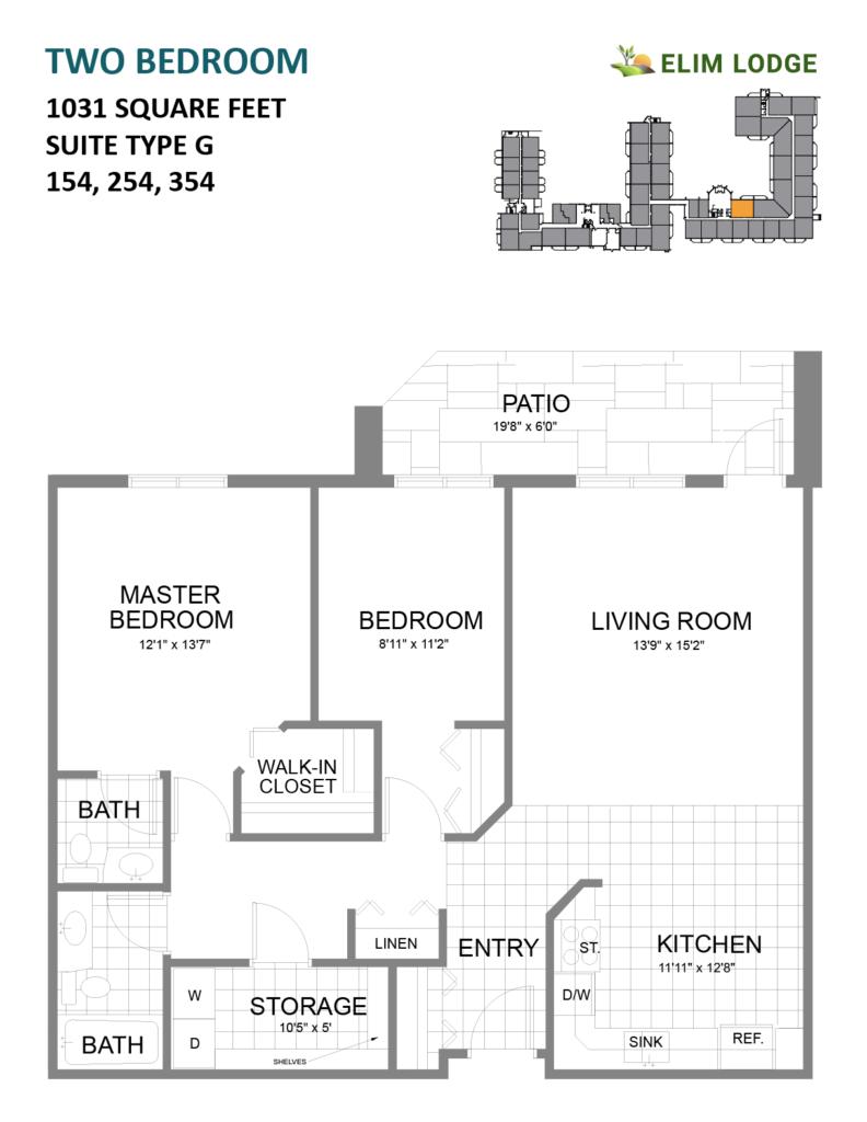 Elim Lodge Rooms 154, 254, 354
