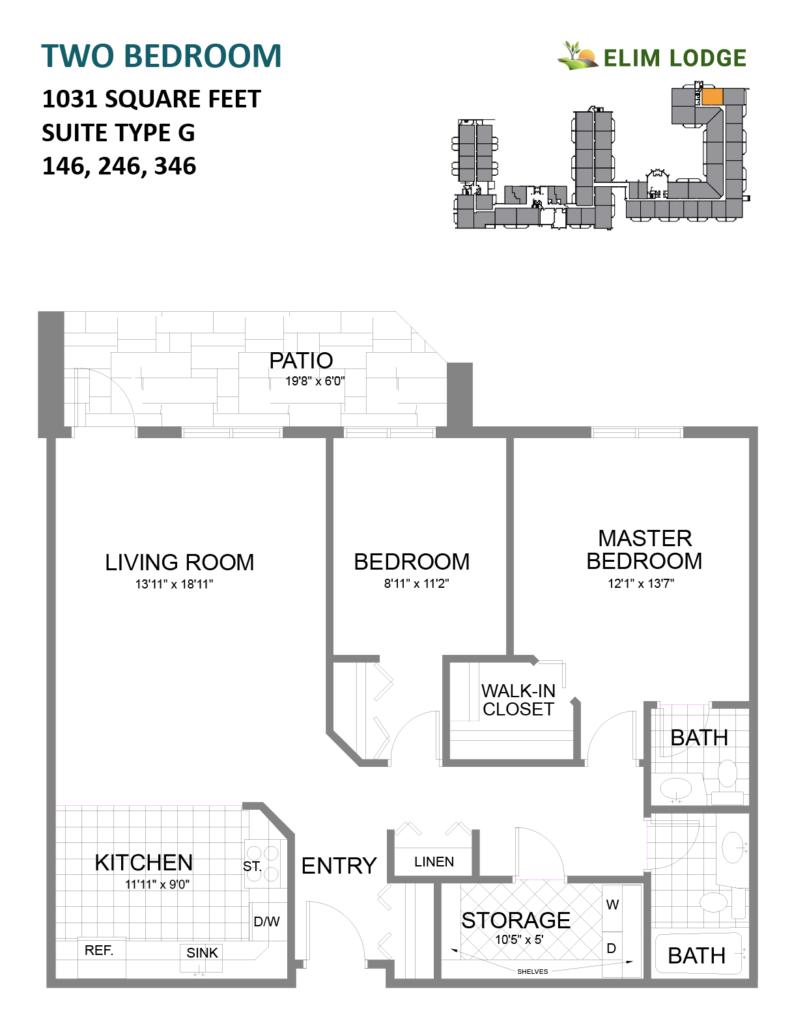 Elim Lodge Senior Suites 146-246-346