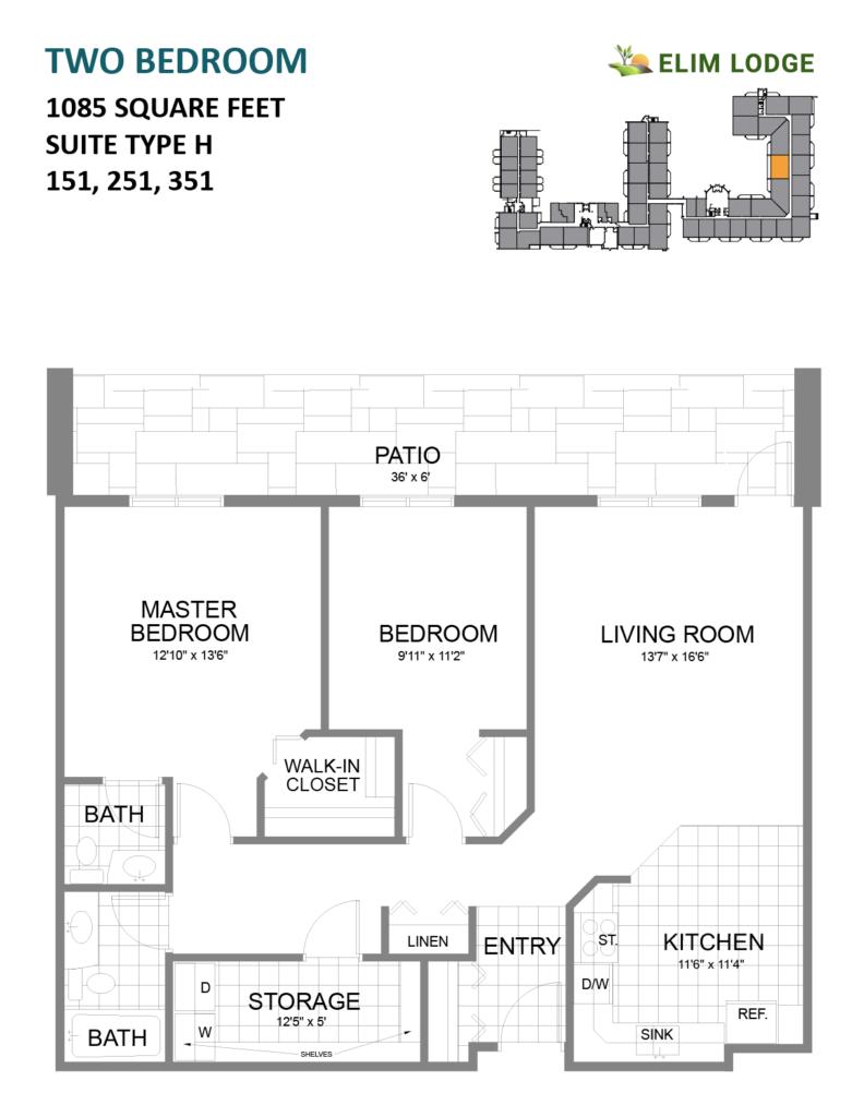 Elim Lodge Rooms 151, 251, 351