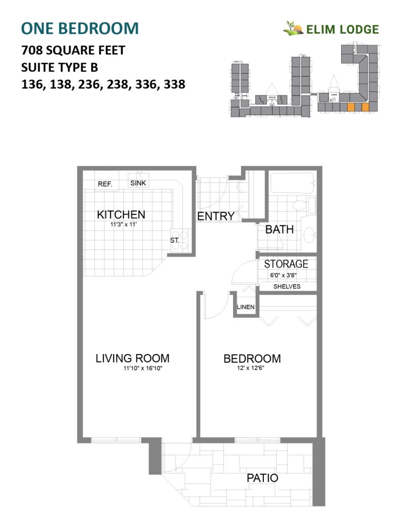 Elim Lodge Rooms 136, 138, 236, 238, 336, 338