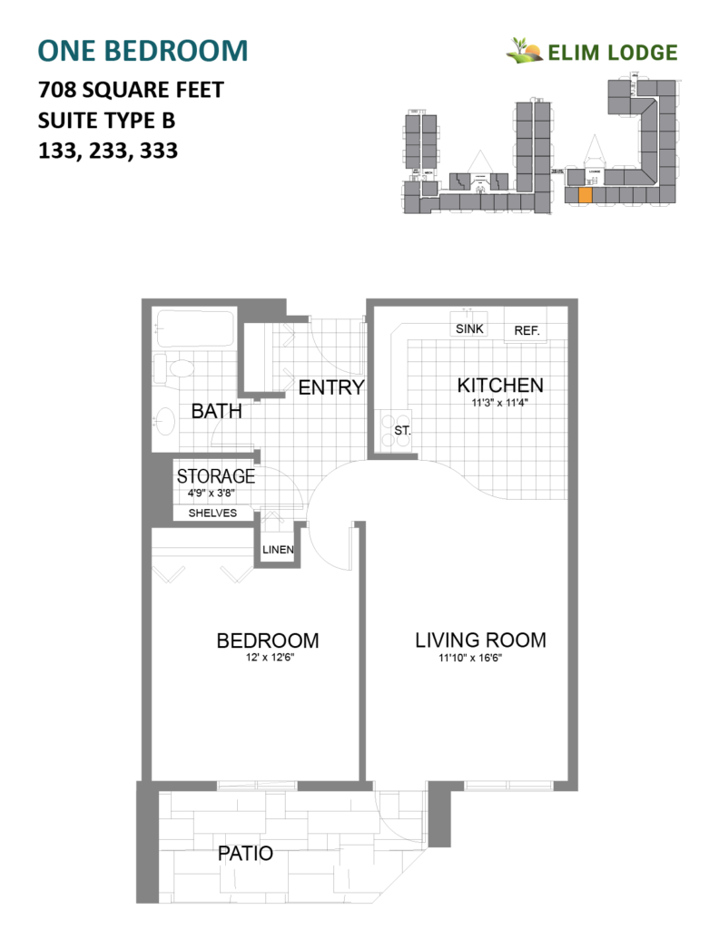 Elim Lodge Rooms 133, 233, 333i