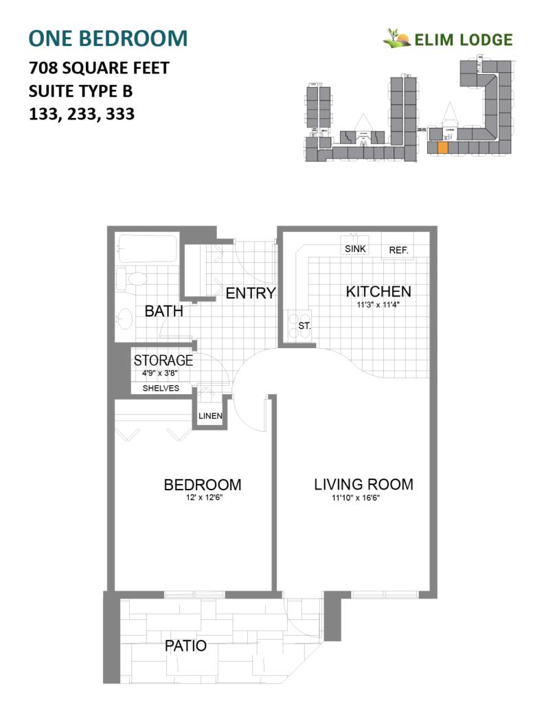 Elim Lodge Rooms 133, 233, 333